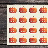 Pumpkin Halloween Happyクラフトステッカー、1.5インチ、高い図形で44ステッカースクラップブック、パーティー、シール、DIYのプロジェクト、アイテム125297