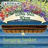 英国 ガードマン 壁掛けハンギングバスケット 90cm【ヤシマット、S字フック付き】