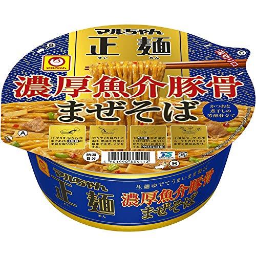マルちゃん正麺 カップ 濃厚魚介豚骨まぜそば 129g ×12個