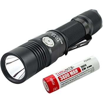 ThruNite® TC12 USB充電式 過充電・過放電・過電流保護回路 LED フラッシュライト 【 CREE XP-L V6 LED/Max1000 ルーメン/使用電池 18650電池×1本】5段階切り替え+ストロボ (TC12 電池含む) (Cool White)