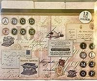 Punch Studio装飾文字サイズファイルフォルダ12ct–ヴィンテージスクリプト61422