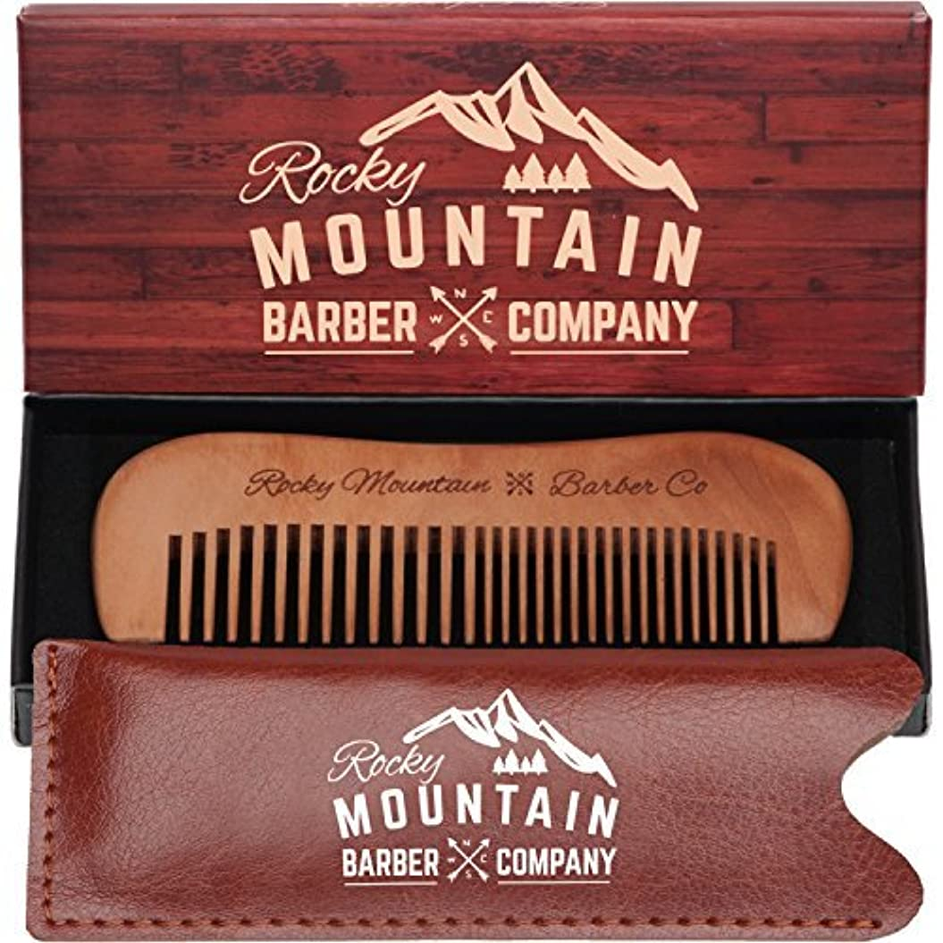 Travel Hair Comb - Travel Size Comb with Fine and Medium Tooth for Mustache, Beard and Hair With Pocket Carrying...
