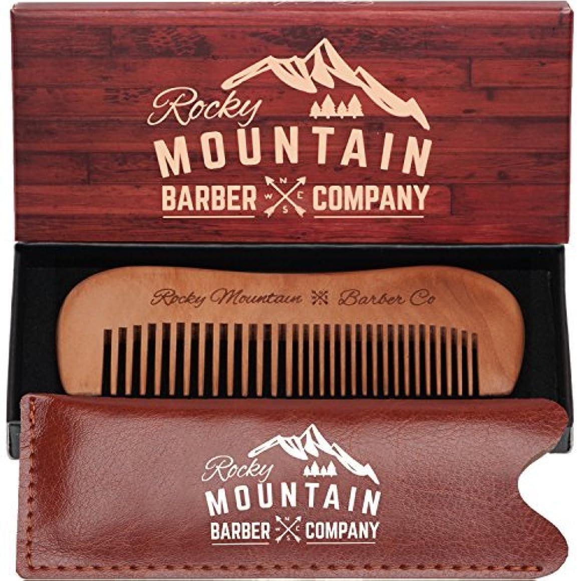 作動するコイルレオナルドダTravel Hair Comb - Travel Size Comb with Fine and Medium Tooth for Mustache, Beard and Hair With Pocket Carrying...