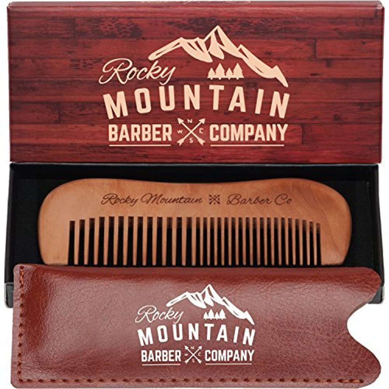 色合い酒ジョブTravel Hair Comb - Travel Size Comb with Fine and Medium Tooth for Mustache, Beard and Hair With Pocket Carrying...