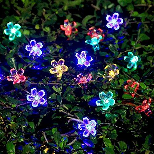 ProGreen イルミネーションライト ガーデンライト 50LED led ソーラー充電式 結婚式 クリスマス  屋外 防水 全長9m 光センサー内蔵  DIY (彩色)