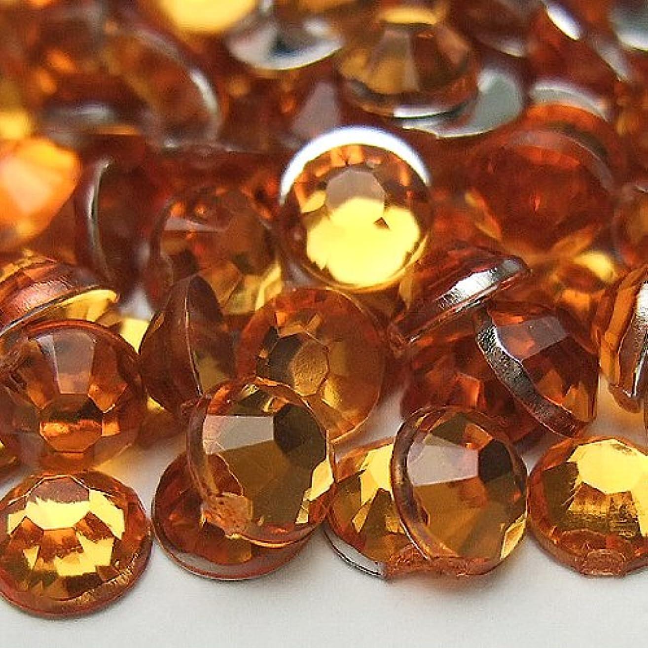 アウター自信がある塗抹高品質アクリルストーン ラインストーン 【4サイズセット】 合計約1500粒入り オレンジ