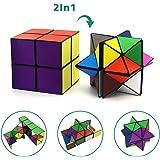 マジック スター キューブ ユークリッドキューブ インフィニティキューブセット (2つ)変える幾何学的な3Dパズルおもちゃ子供と大人マジックパズルキューブ