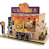 Fsolis DIY Dollhouse Miniature Kit with Furniture, 3D Wooden Miniature House , Miniature Dolls House kit M913