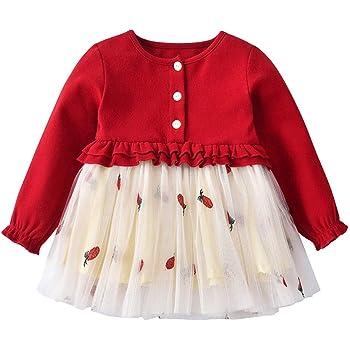 00340ff6aa66a 子供服 女の子 果物 パイナップル刺繍 フリル 袖 プリンセススカートドレス かわいい ワンピース 女の子 子供服