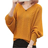 [エムエルーセ] 5色展開 ニット Vネック トップス セーター 透かし編み 透け感 長袖 秋 冬 ゆったり おしゃれ…