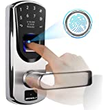 Fingerprint Door Lock, ARDWOLF A60 Security Biometric Smart Electronic Touchscreen Keypad Lock with 304 Stainless Steel, US T