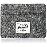 Herschel Men's Charlie RFID Wallet, Raven Crosshatch, One Size