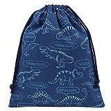 体操着袋 青×恐竜柄 男の子 巾着袋 大 ハンドメイド 日本製