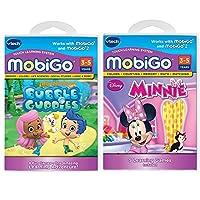 Vtech–Mobigo Learning Toys–-ゲーム2ソフトウェアカートリッジ値パックバンドル: Bubble Guppies Disney 's Minnie