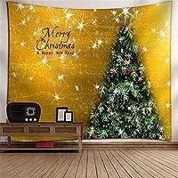 クリスマス タペストリー クリスマスホームデコレーションタペストリー毛布様々なクリスマスツリーのデジタル印刷ウォールブランケット 個性ギフト 人気 お祝い (Color : C5, Size : 150cm*150cm)