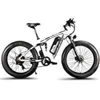 Cyrusher XF800アシスト自転車 26インチ ファットバイク マウンテンバイク スノーバイク 750W 48V13Ahバッテリー アルミフレーム FATBIKE迫力の極太タイヤ 防犯登録可能 (白)