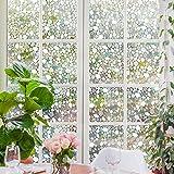 Rabbitgoo 窓 めかくしシート ガラスが石坂になるフィルム 水で貼れる目隠しシート 光によってステンドグラス 貼ってはがせる 外から見えない(石坂 90 x 200cm)