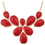 Jane Stone Fashion Gold Tone Bubble Collar Necklace Statement Chunky Jewelry for Women