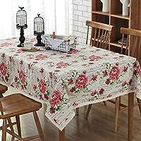 YHWJP テーブルマット テーブルクロス テーブルカバー 拭きやすい 多用途 家庭用 汚れ防止 耐久性 背景布 (Color : Rose print, Size : 140*160CM)