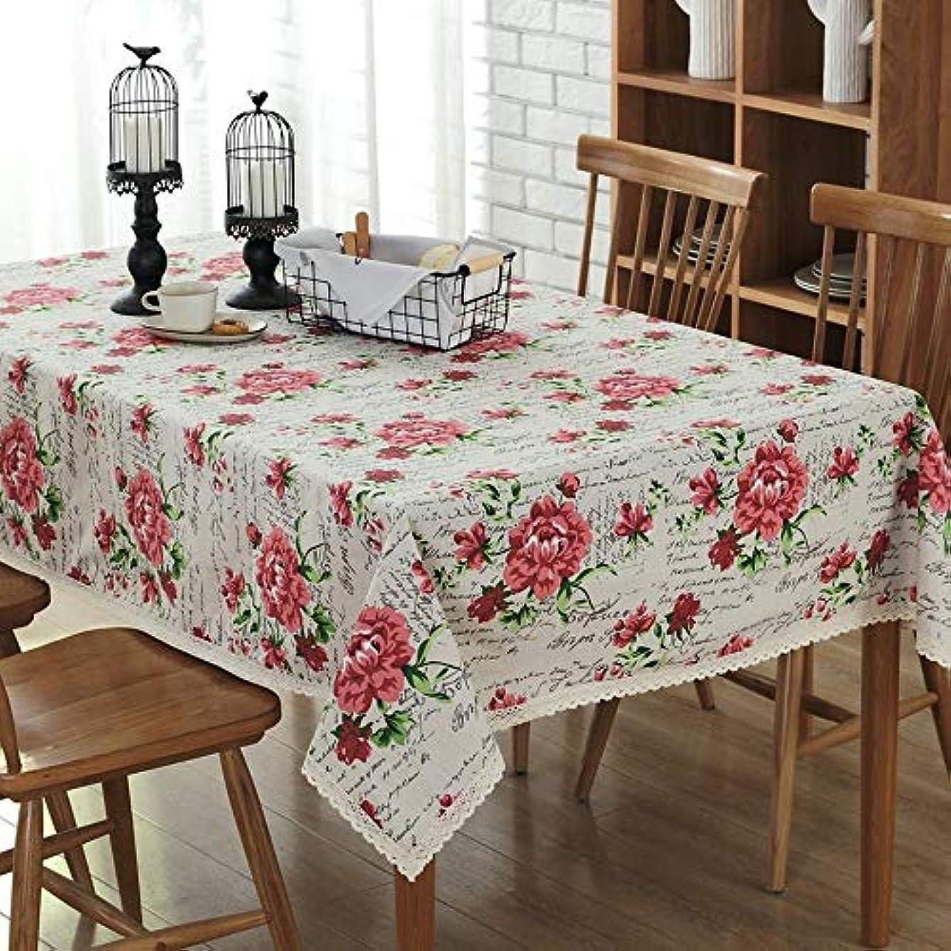 慎重にテンポ東方LIJIAN クラシックコットンやリネンのバラの木プリントコーヒーテーブルテーブルクロス (Color : Rose print, Size : 140*180CM)