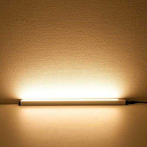 直管形LEDランプ LEDエコスリム LEDスリムライト(GT-SET30CM-TSW) 長さ300MM 電球色 LEDスリム照明器具 スチールラックに取り付けられるLEDライト 間接照明 おしゃれ キッチン照明 デスクライト