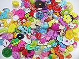 200個セット 手芸用 プラスチック ボタン ミックス 福袋 クリア ハンドメイドパーツ  ヒューイ雑貨