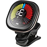 LEKATO Rechargeable Guitar Tuner Clip On Tuner for All Instruments - Guitar, Violin, Ukulele & Chromatic Tuning Modes, Fast &