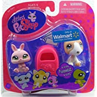 Littlest Pet Shop Exclusive Funniest Pet Pairs Figures Pink Bunny and Bull Terrier with Mailbox by Hasbro [並行輸入品]