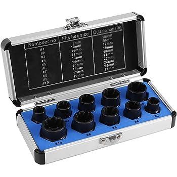 10点セット ナットツイスター ナット取り外し ツイストソケット ナットセット ねじボルト箱 工具セット ツール 工具箱 持ちやすい 手軽 取り換え DIY工具 アクセサリー
