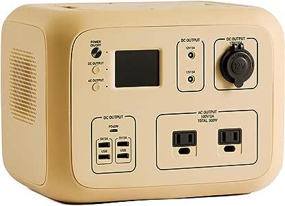 ポータブル電源 PowerArQ2 コヨーテタン (500Wh/45,000mAh/11.1V/正弦波 100V 日本仕様 蓄電池) 正規保証2年