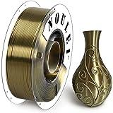 Noulei Shiny PLA 3D Printing Filament for 3D Printer, 1kg/2.2lbs Spool 1.75mm, Silk Antique Gold