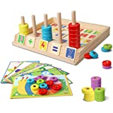 Smiim リング 積み木 つみき 知育玩具 計算 はめこみ かたはめ 幼児 子供 学習 おもちゃ 木製 足し算 引き算