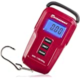 Digital Fish Scale - Weigh Your Catch Quickly, Easily & Accurately - Measures Weight in Pounds & Kilogrammes - Strong Hanging