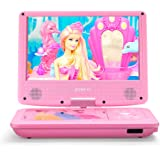 ZESTYI 9 Portable DVD Player for Kids with Car Headrest Mount 3 Hours Rechargeable Battery Car Charger SD Card Slot USB Port