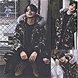 PlumRiver メンズ 男女兼用 ロング ベンチコート ファーフード MA-1 中綿コート ダウンジャケット ぐらい暖かい 厚手 迷彩 カモフラ Mサイズ