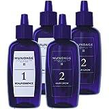MUNOAGE Wアプローチヘアプログラム【薬用育毛剤 2STEP 頭皮美容液(60ml) & 育毛剤(60ml) セッ…