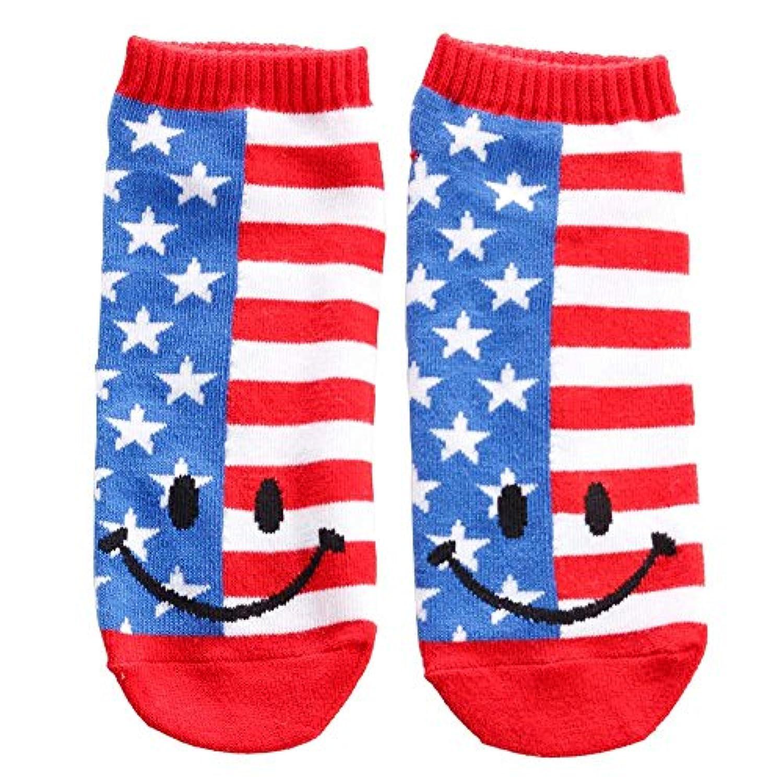 [男女兼用靴下]アンクルソックス/US FLAG SMILE