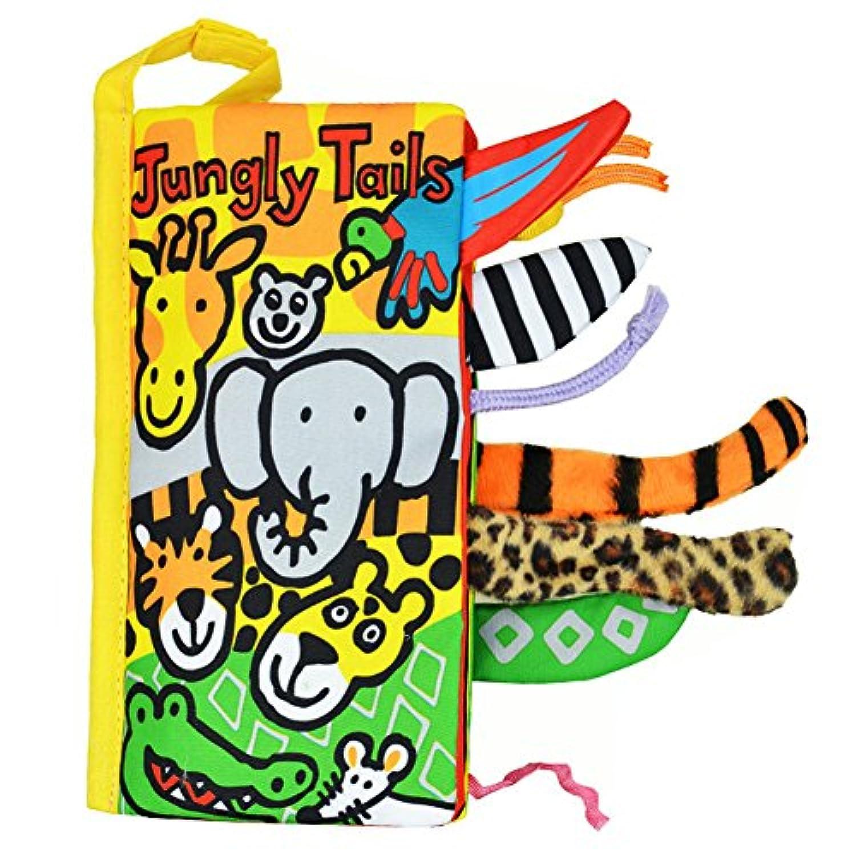 NOQ A Book of Animal Tail /赤ちゃん早期教育ブック/子供の学習おもちゃ/ The Giraffe & # x3001 ; Elephant & # x3001 ; Parrot & # x3001 ;クロコダイル& # x3001 ;ヒョウ柄& # x3001、マウス、etc