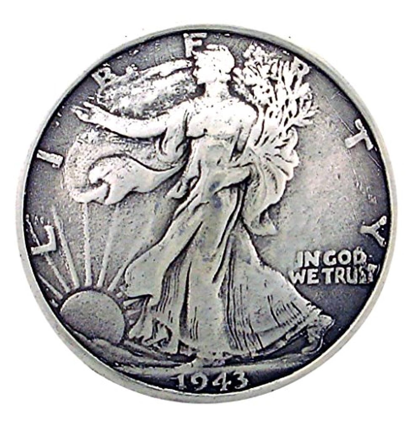 手つかずのつぶす塩辛いコインコンチョ 自由の女神 K レプリカ