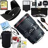 Canon (9518b002) EF 16–35mm f4l is USMレンズ+ 64GB究極フィルタ&フラッシュ写真バンドル
