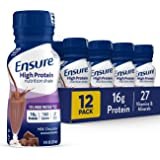 Ensure High Protein Nutritional Shake with 16g of High-Quality Protein, Ready-to-Drink Meal Replacement Shakes, Low Fat, Milk