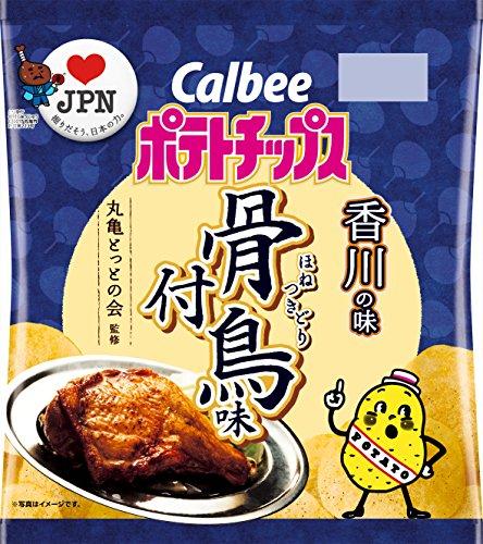 カルビー ポテトチップス骨付鳥味 55g×12袋 (香川県)