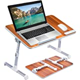 [Large Size] Neetto TB101L Adjustable Laptop Bed Table, Portable Standing Desk, Foldable Sofa Breakfast Tray, Notebook Stand