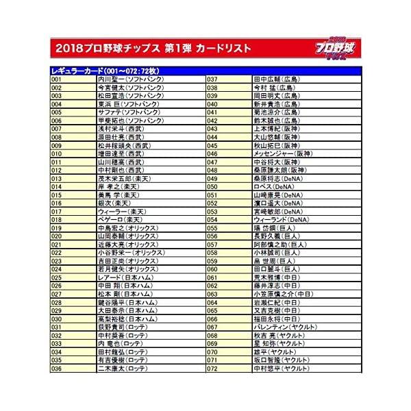 カルビー 2018プロ野球チップス スペシャル...の紹介画像5