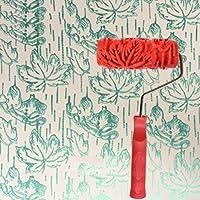 エンボスローラー、アート壁印刷ローラー液体壁紙ペイント珪藻泥エンボスローラーブラシウォールローラー(5インチ) (色 : D)