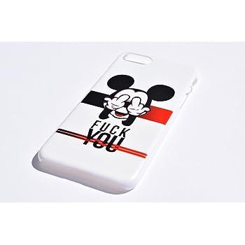 c07ce0a8a2 ディズニー 白 ミッキー iPhoneケース (iPhone7plus / iPhone8plus, ホワイト ハードケース)