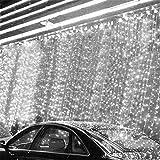 512 LED 8M x 2M LEDカーテンライト/クリスマスクリスマスライト/装飾/クリスマス/ Fairy / Festival /ノベルティライトランプ電球文字列ストリップロープライト (ホワイト)