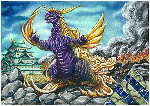 キャンバスアート ご当地怪獣 03 シャチホコング 愛知 P3号 273x190mm