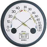 エンペックス気象計 温度湿度計 エスパス温湿度計 壁掛け用 日本製 ブラック TM-2332