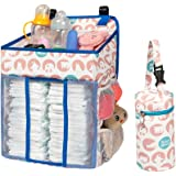 Selbor Baby Nursery Organizer and Diaper Caddy, Hanging Diaper Stacker Storage for Changing Table, Crib, Playard or Wall - Ba
